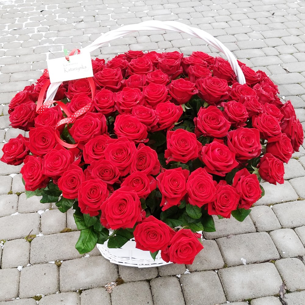 kosz kwiatowy Różana 100