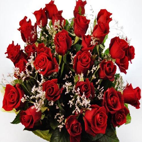 30 czerwonych róż