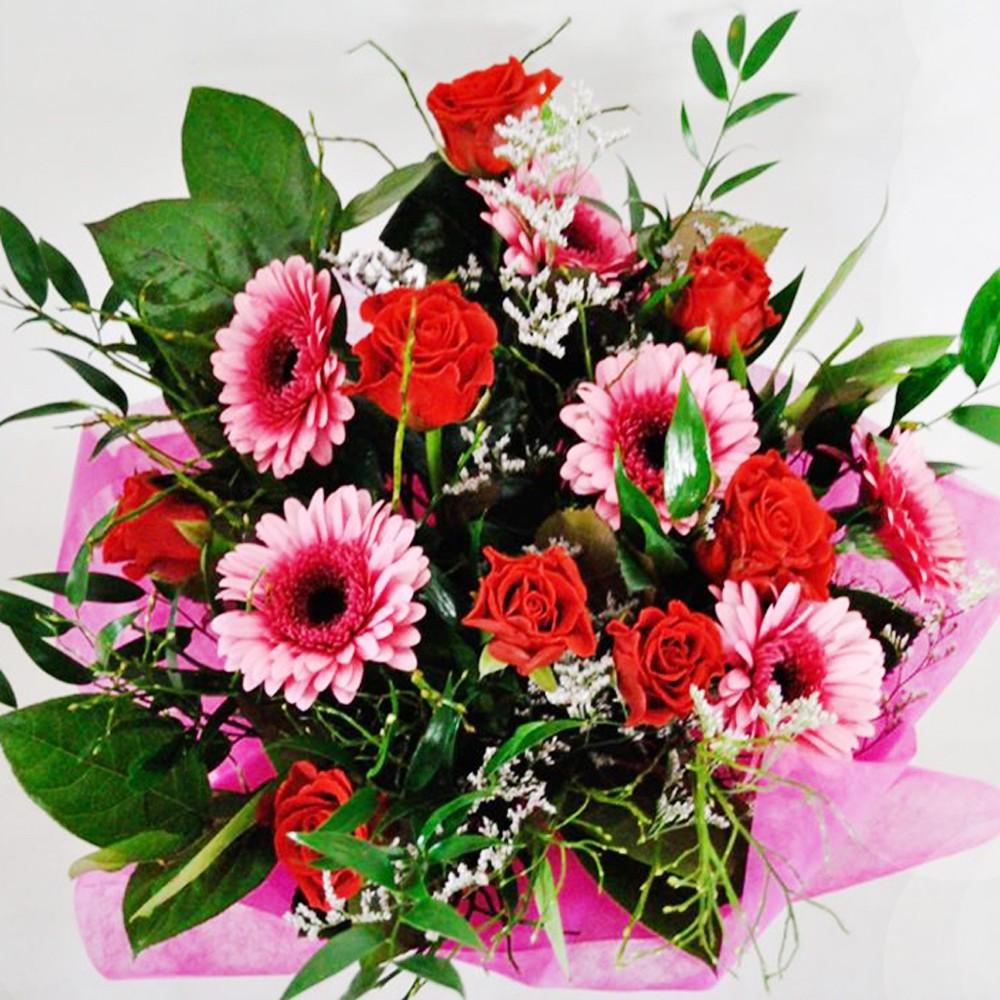 Różowa gerberka