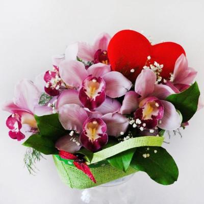 Koszyk kwiatowy Egzotyczna Miłość