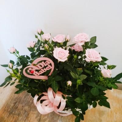 Kosz kwiatowy Dla Dziadków 1