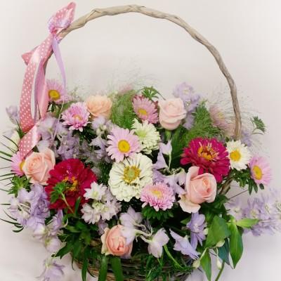 Różowy koszyczek