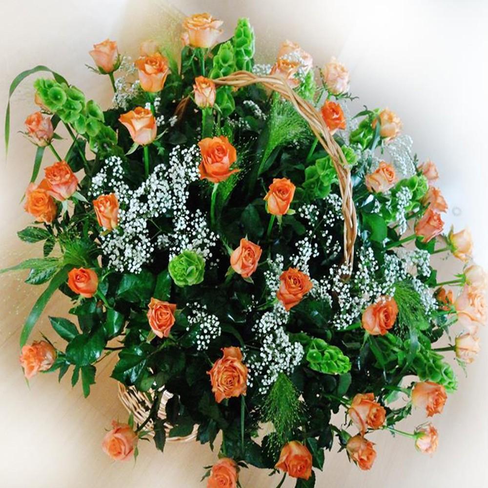 Kosz kwiatowy Herbaciany
