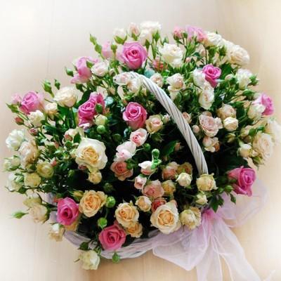 Kosz kwiatowy wdzięczność